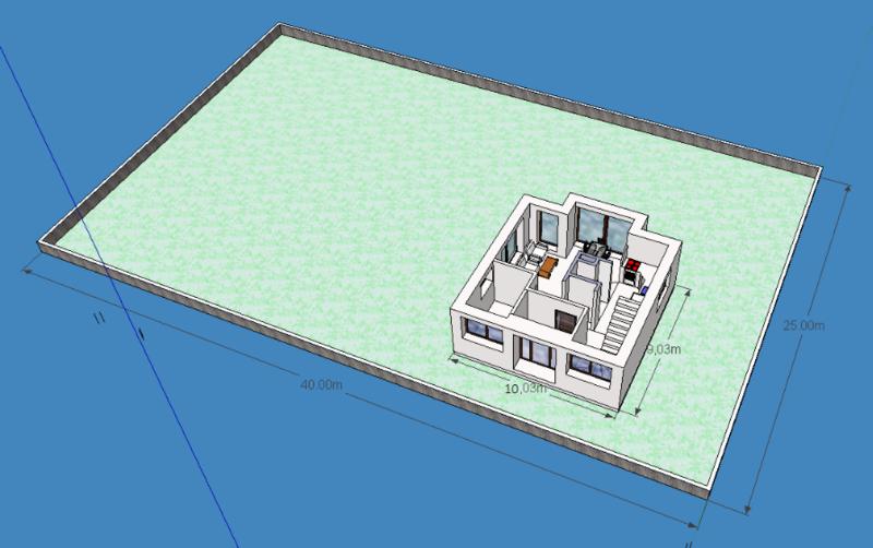 Проект одноэтажного дома 9 на 10 метров
