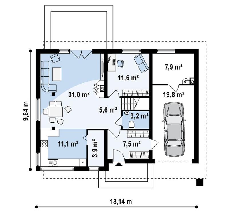 Проект дома на несколько комнат