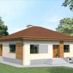 Небольшой одноэтажный домик – то, что нужно для загородной жизни