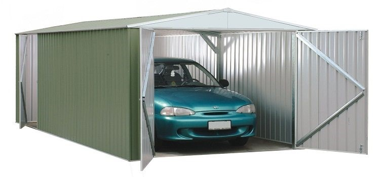 Пример гаража из профиля