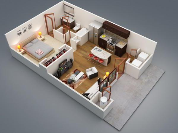 Пример обстановки одноэтажного дома