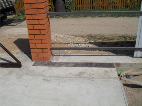 Пример бетонирования поверхности