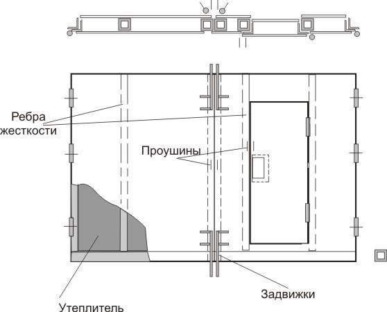 Схема конструкции с двух ракурсов