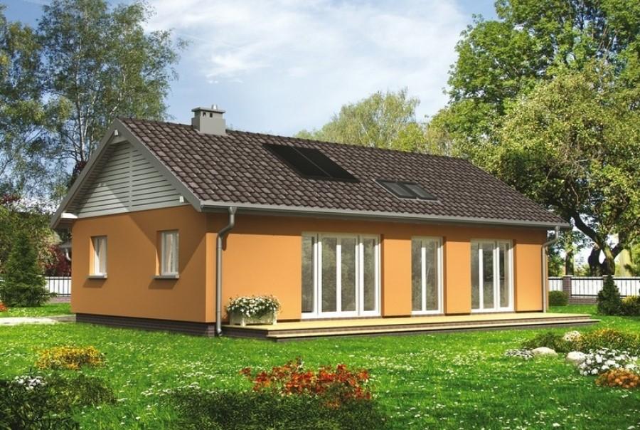 Светлый и уютный дом на небольшом участке