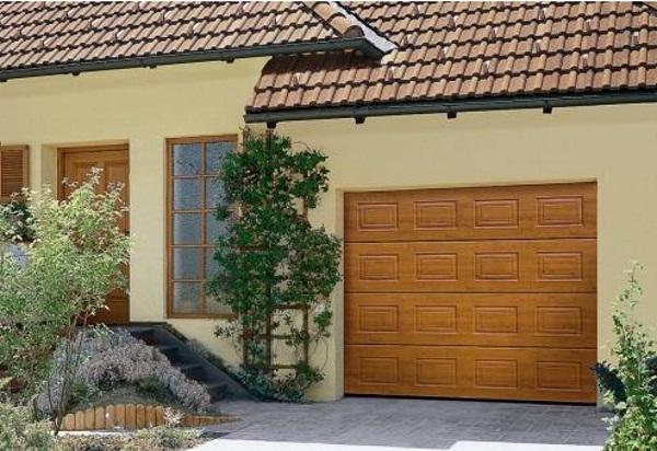Пример секционных гаражных ворот