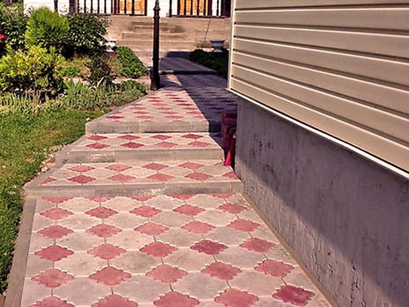 Идеальная отмостка-тротуар