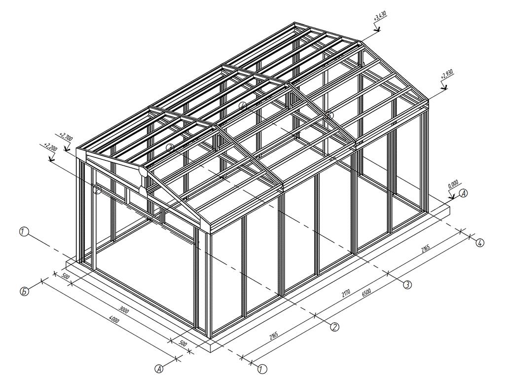 Схема гаража