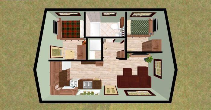 Жилое пространство можно разбить на зоны оптимального размера