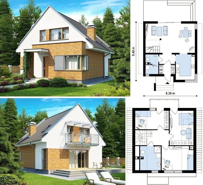 Дом с мансардой и несколькими спальнями