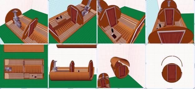 Процесс непосредственной сборки деревянной бочки