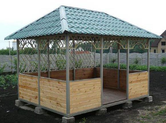 Вариант четырехскатной крыши 3