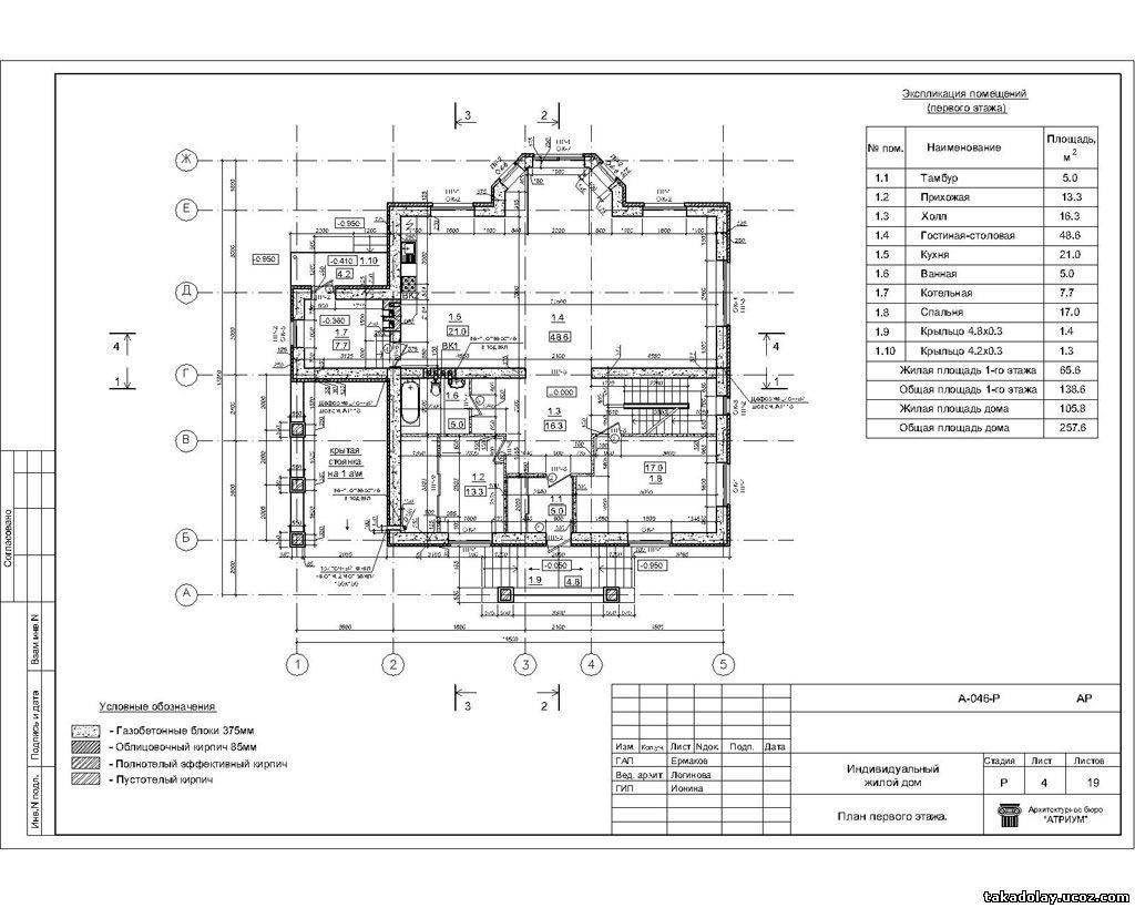 Детальный проект здания