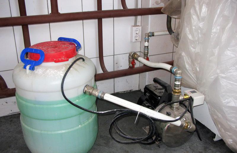 Подпитка отопления антифризом