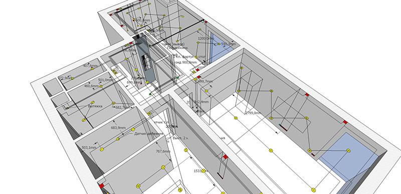 Система электроснабжения квартиры в AutoCAD