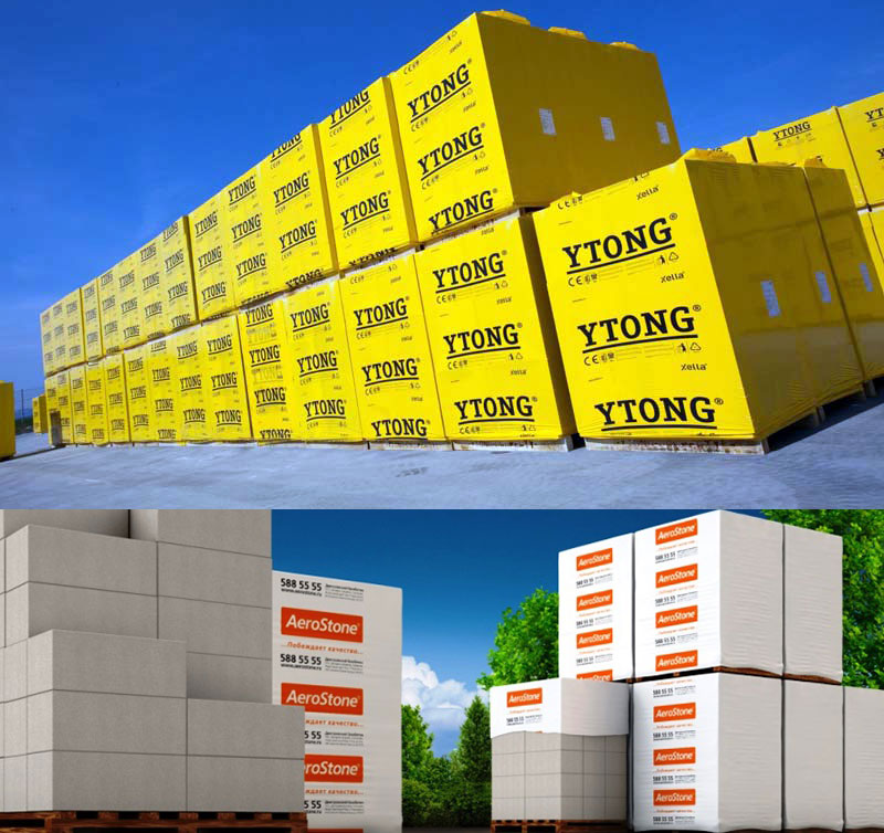 Пеноблоки марки Ytong и AeroStone