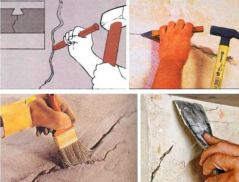Последовательность ремонта оштукатуренной стены