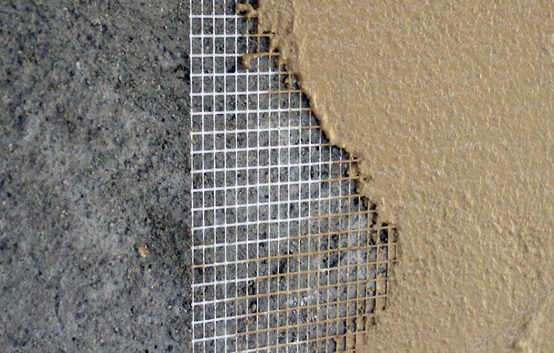 Усиление трещины армирующей сеткой
