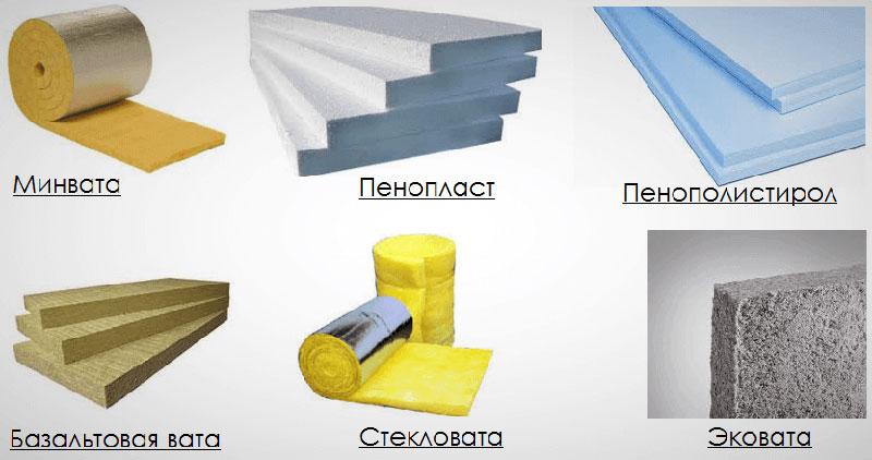 Типы теплоизоляционных материалов для утепления жилых зданий