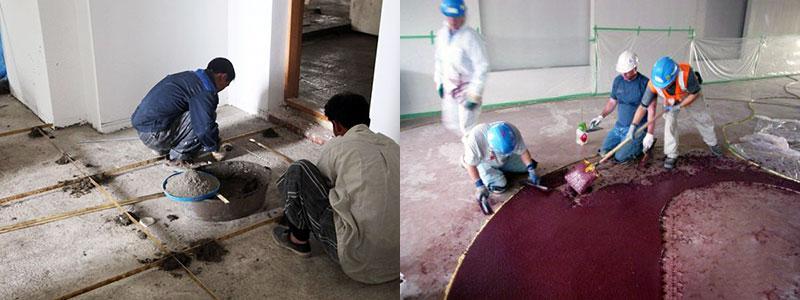 Как заливать бетонную поверхность с добавками крошки мрамора
