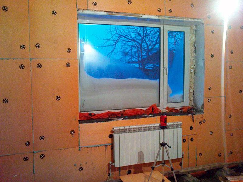 Утепление пеноплексом изнутри