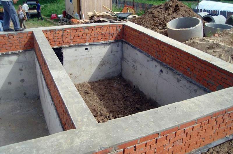 Ленточный фундамент для погреба под гаражом