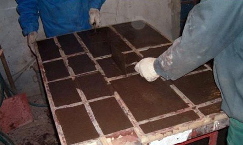 Изготовление мраморной плитки в домашних условиях