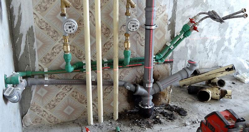 Общий стояк системы канализации