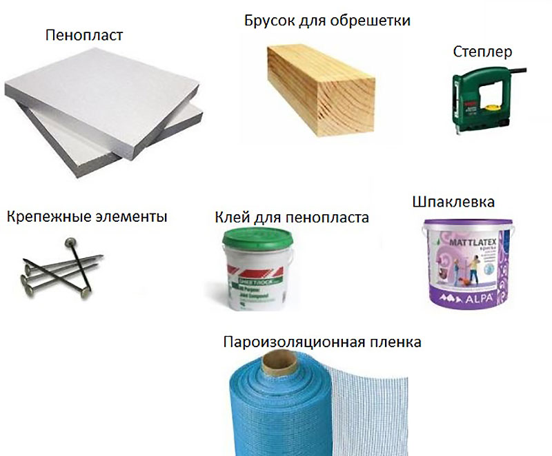 Инструменты и материалы для утепления гаража