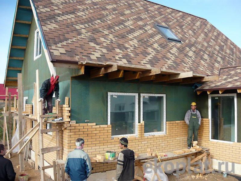 Утепление наружных стен деревянного дома Изоплатом