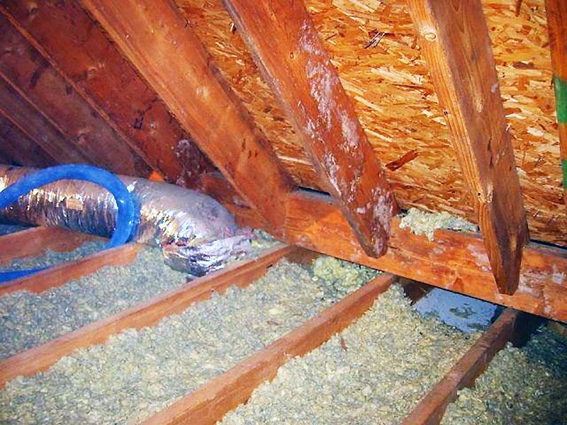 Схема изоляции потолка опилками