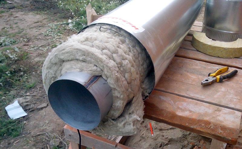 Пример утепления трубы теплотрассы