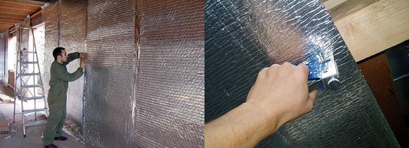 Утепление стен фольгированными теплоизоляционными материалами