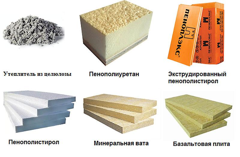 Виды теплоизоляционных материалов