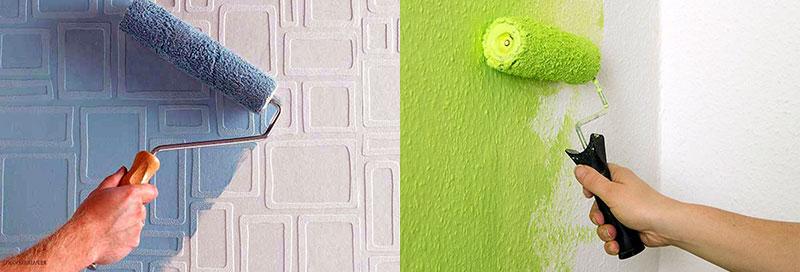 Окрашивание стен малярным валиком