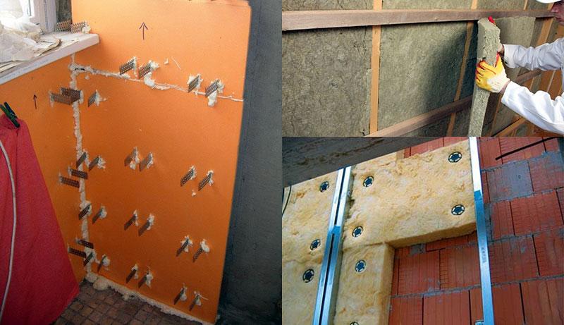 Крепление теплоизоляционных материалов на стену