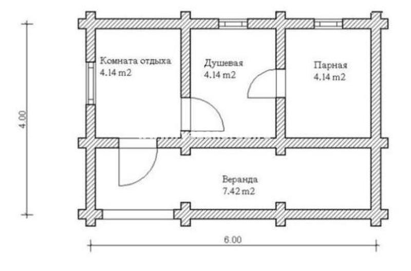 Типовой план мини-бани