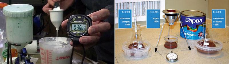 Измерение вязкости водоэмульсионных красок