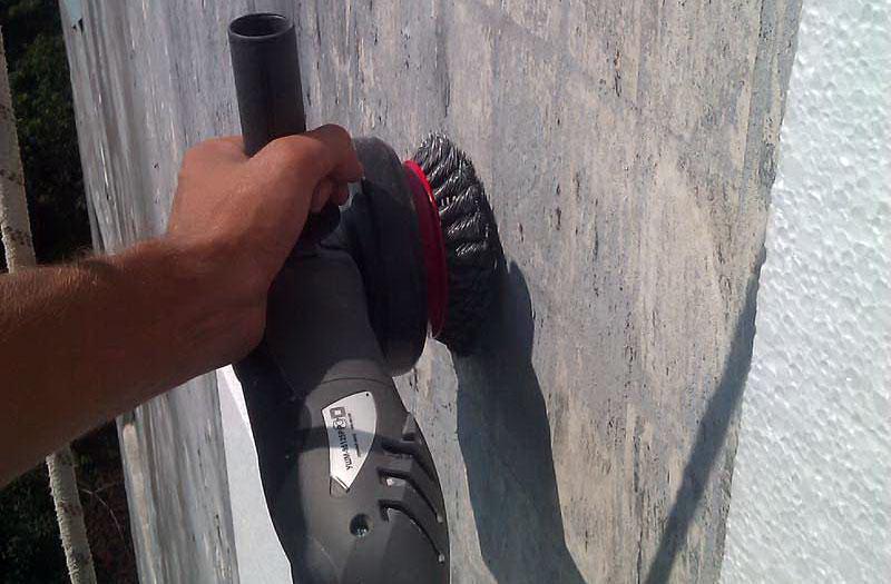 Зачистка наружных стен
