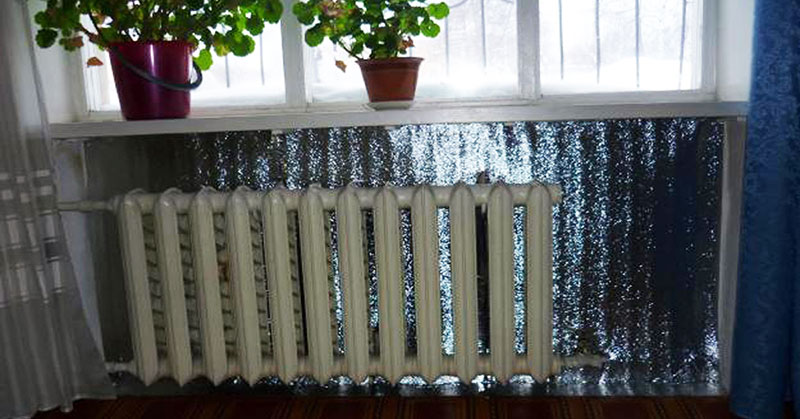 Теплоизоляция радиатора