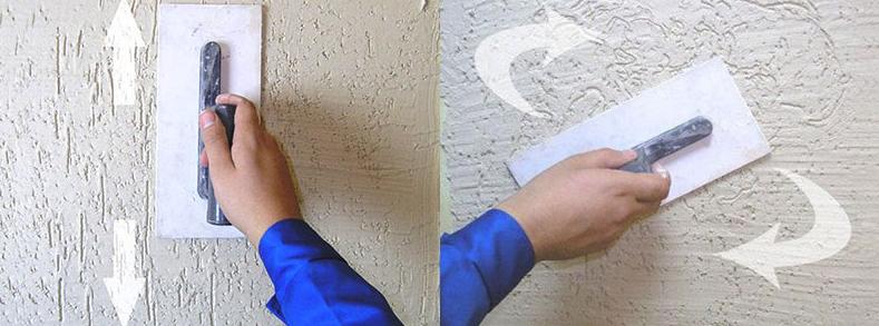 Декоративная штукатурка на утепленной стене