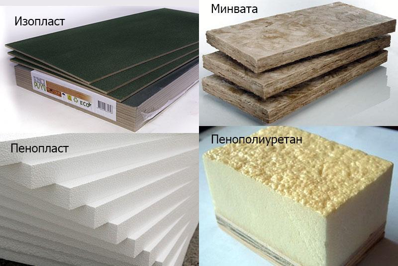 Популярные материалы для внутреннего утепления деревянного дома