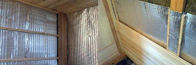 Самостоятельное утепление стен бани изнутри фольгированной базальтовой ватой