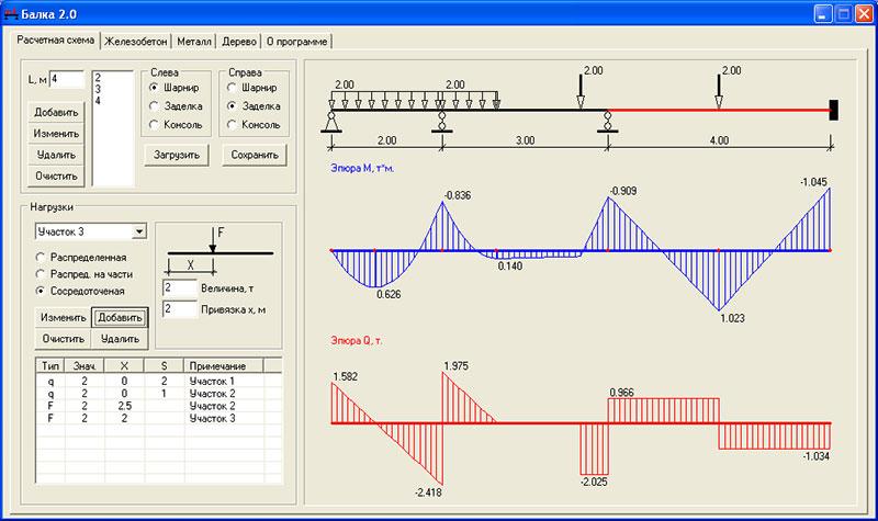 Калькулятор расчета ж/б конструкций