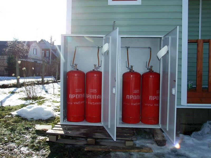 Газовое отопление от баллонов с пропаном