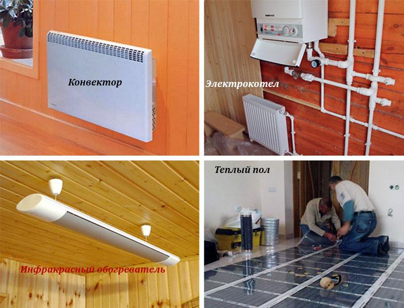Варианты электрического отопления дома