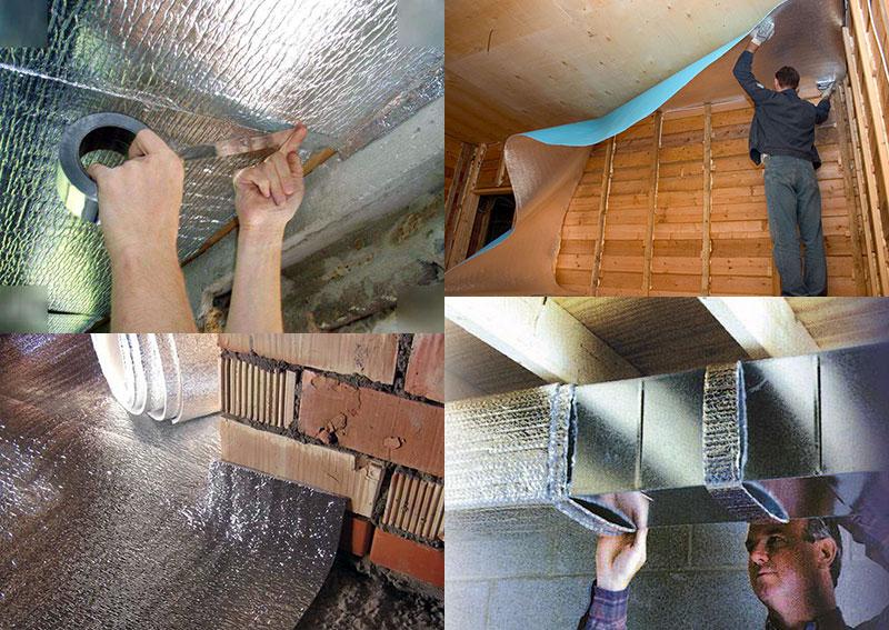 Области применения изолона в частном строительстве