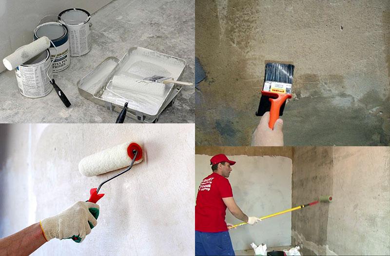 Грунтование стен перед штукатуркой и шпаклевкой