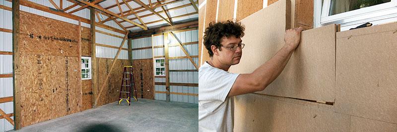Утепление внутренних поверхностей дома и работы снаружи