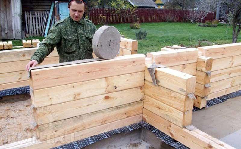 Профилированный брус – безотходное строительство бани