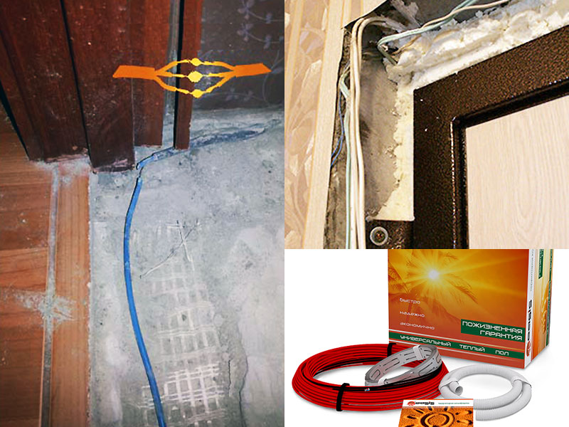 Укладка греющего провода